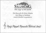 Mozart Festival  Salzburg 2009